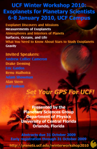 UCF Winter Workshop 2010: Exoplanets for Planetary Scientists