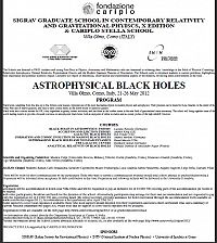 SIGRAV Graduate School in Contemporary Relativity and Gravitational Physics: X Edition. ASTROPHYSICAL BLACK HOLES