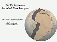 3rd Conference on Terrestrial Mars Analogues