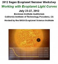2012 Sagan Summer Workshop: Working with Exoplanet Light Curves