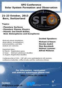 SFO - Solar System Formation and Observation Conference